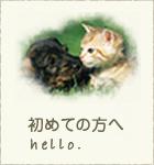 初めての方へ 動物たちの安全と適切な診察・処置のために、ご来院の際はぜひご一読ください。